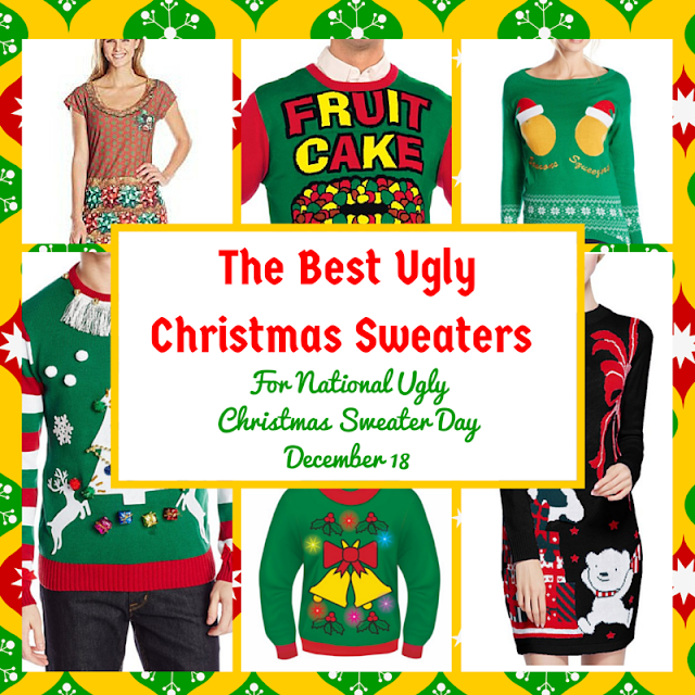 The Best of the Worse Sweaters to Wear on National Ugly Christmas Sweater Day #GiveHeifer