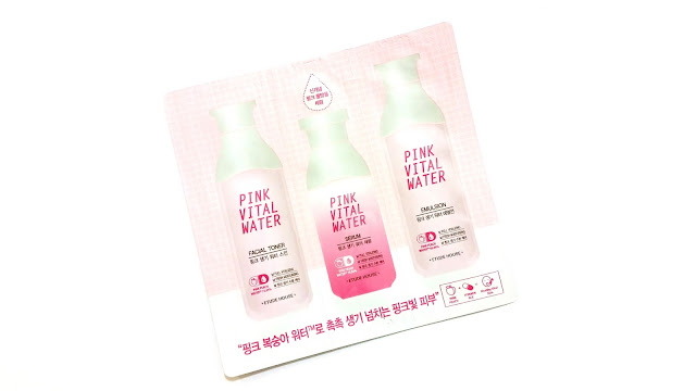 Etude House Pink Vital Water  Toner, serum, emulsion