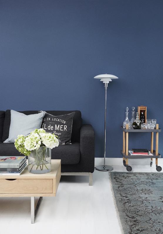 Decoração em azul, ambientes decorados com azul marinho, blog Achados de Decoração