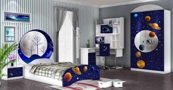 dormitorio temática espacial