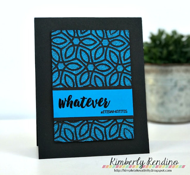 Nuvo Glimmer Paste | Handmade card | papercraft | kimpletekreativity.blogspot.com | Kimberly Rendino | Hashtag | clear stamps