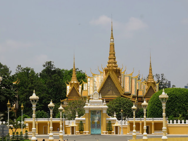 Impressive entrance to the Royal Palace in Phnom Penh