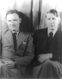 Christopher Isherwood (left) and W.H. Auden (right) photographed by Carl Van Vechten, February 6, 1939