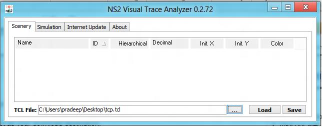 Network Simulators: NS2 Visual trace analyzer