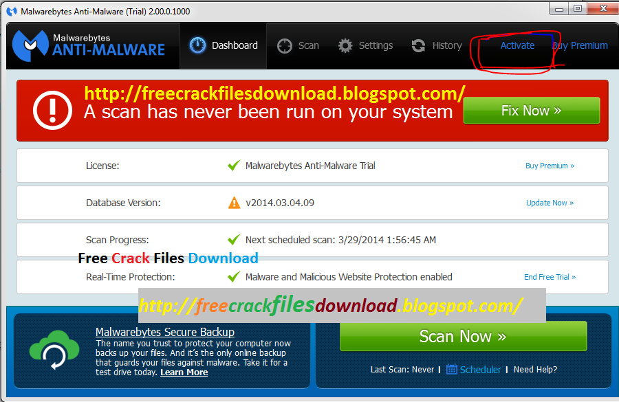 Malwarebytes Anti-Malware PRO License Activation Keys