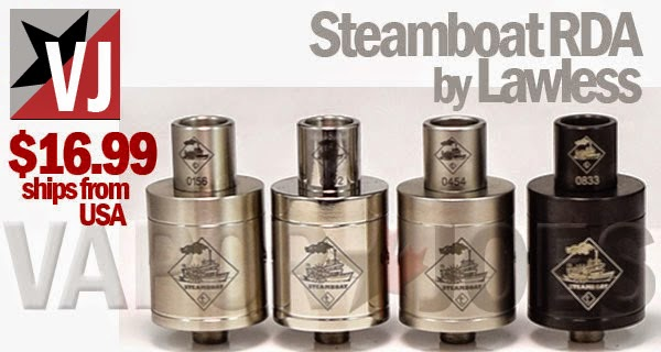 vaporjoes com vaping deals and steals the steamboat rda tugboat