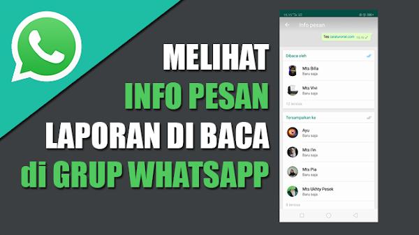 Melihat Siapa Saja Yang Membaca Pesan Kita Di Grup Whatsapp