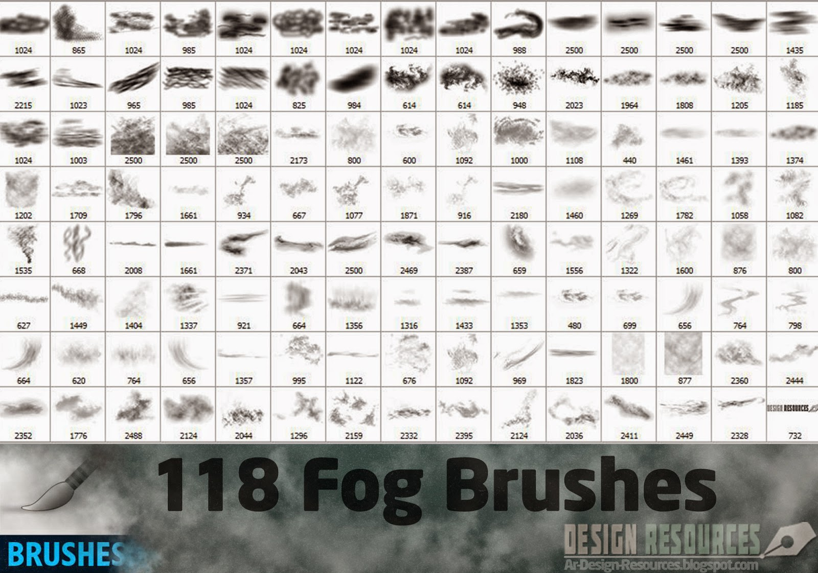 118 Fog Brushes — Photoshop Add-ons