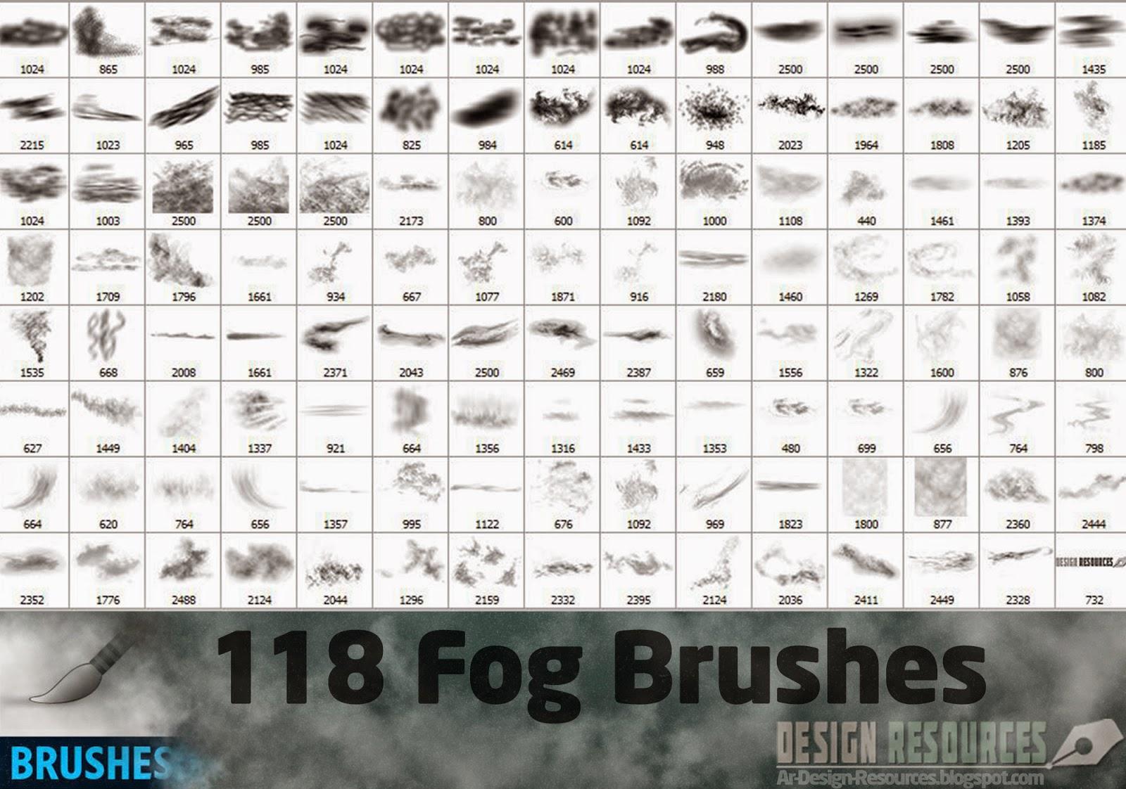 118 Fog Brushes — Photoshop Add-ons