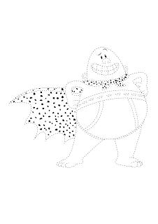 Desenho Capitão Cueca pontilhado para imprimir