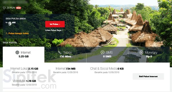 rincian kuota di situs My Telkomsel
