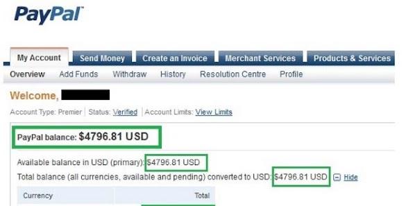 Cara mendapatkan dollar gratis untuk mengisi saldo paypal dengan cepat