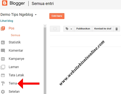 9 Langkah Cara Ganti Tema Blog dengan Template Gratis Bawaan Blogger