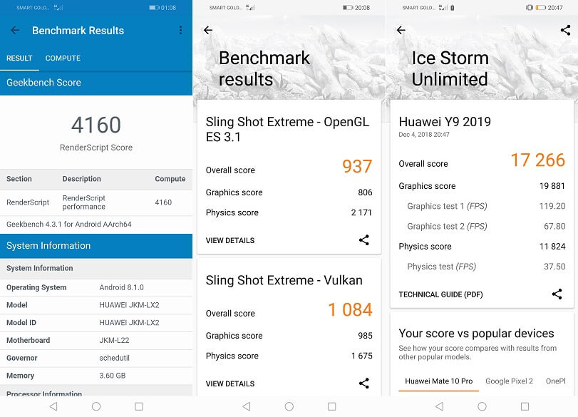 Huawei Y9 2019 Benchmark Scores