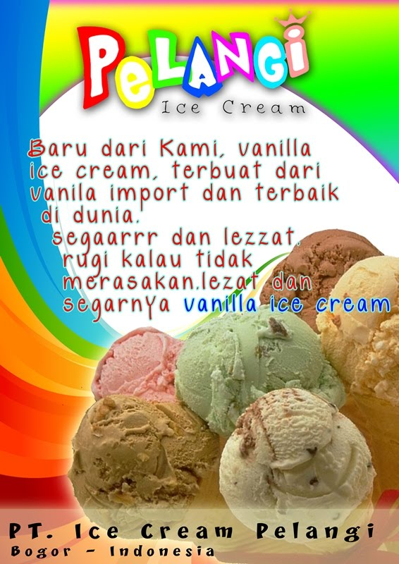 Ice Cream Pelangi Poster