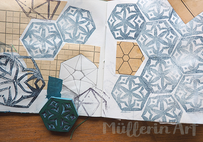 Hexagonstempel ©muellerinart