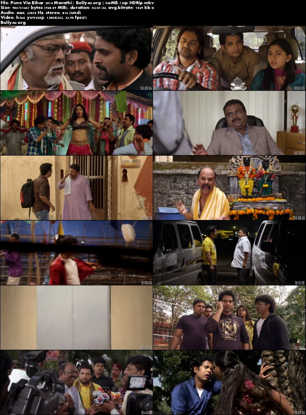 Pune Via Bihar 2014 HDRip 900Mb Marathi Movie 720p