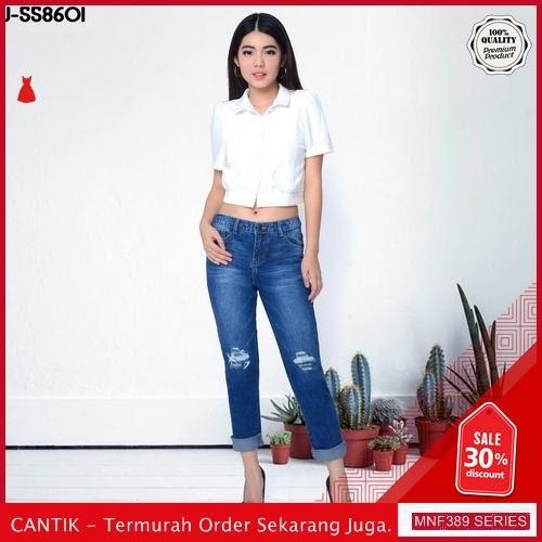MNF389J119 Jeans 558601 Wanita Boyfriend Ripped Jeans Celana 2019 BMGShop