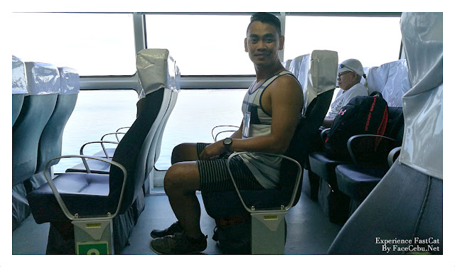 "FaceCebu Blogger with his ""free legs"" very comfortable in Business Class"
