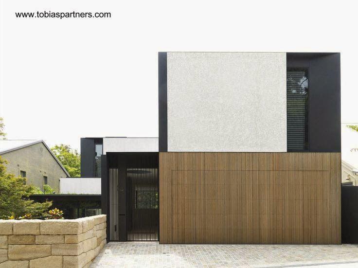 Fachada a la calle de una casa residencial contemporánea en Australia