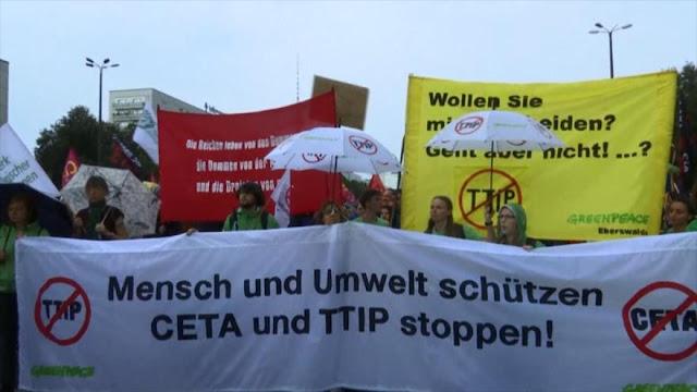 Masiva manifestación en toda Alemania contra TTIP y CETA