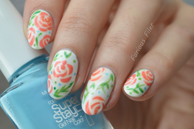 flower floral nails nail art spring cute