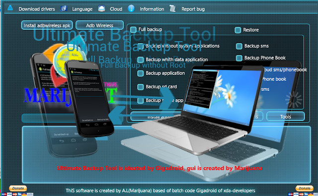 Android Ultimate BackupTool