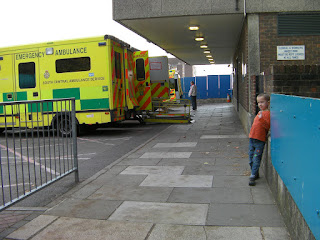 ambulance bay at accident and emergency