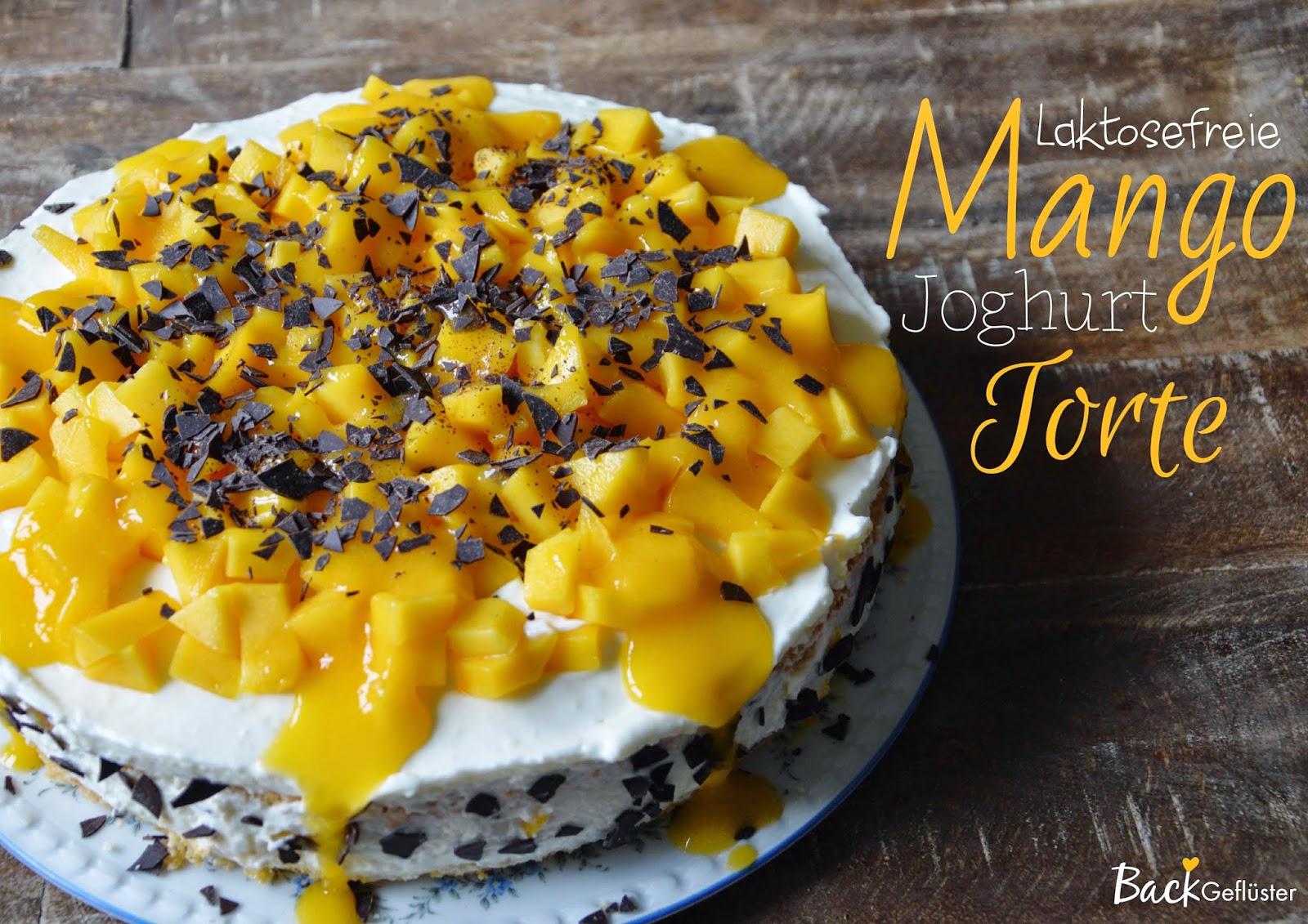 Backgefluster Mango Joghurt Torte Laktosefrei