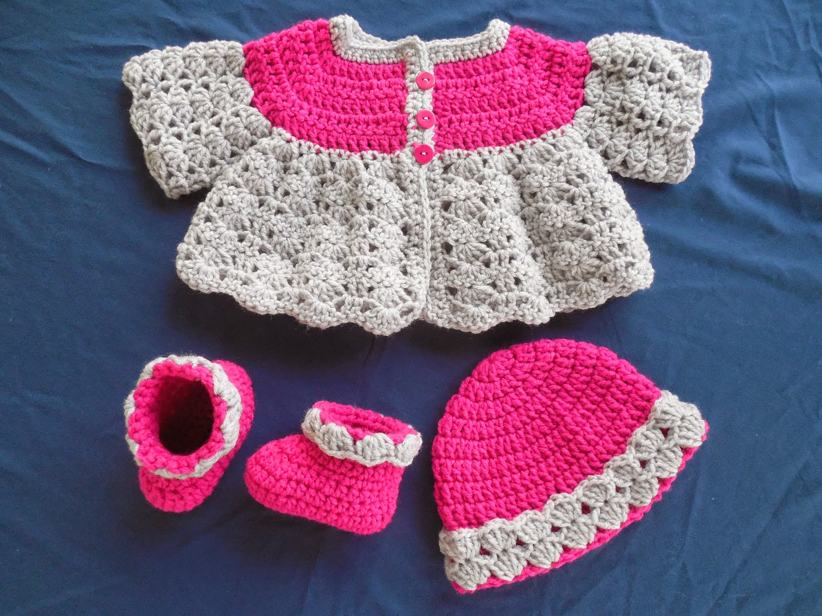 Lovely Britteny Off the HOOK!!: Baby Girl's Fancy Shell Sweater Set  FY54