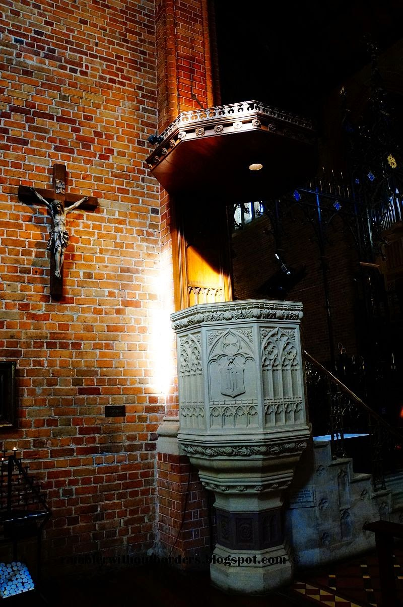 the pulpit and the cross, St Georges Cathedral Anglican, Perth, WA, Australia