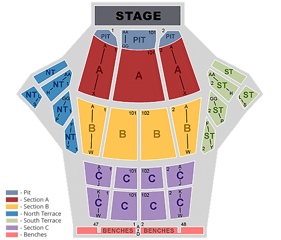 greek theater seating chart - Seating Chart Greek Theatre