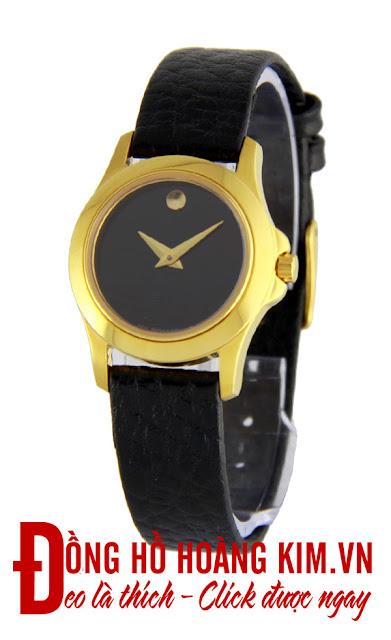 Đồng hồ đeo tay nữ Movado dây da giá rẻ dưới 2 triệu