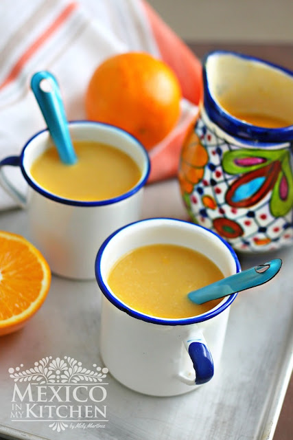 orange atole recipe  naranja  a sweet warm drink