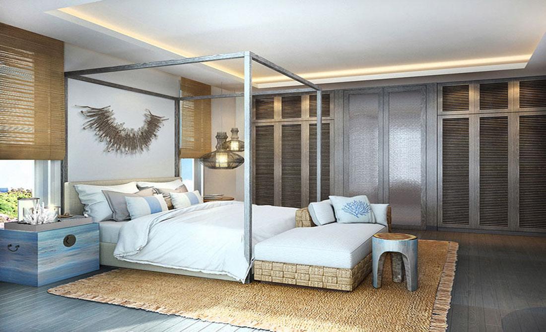 Phòng ngủ hiện đại tại biệt thự