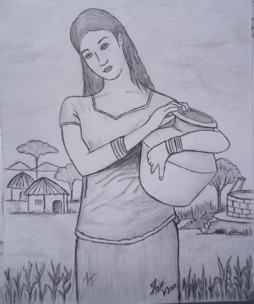 Cute desi village girl