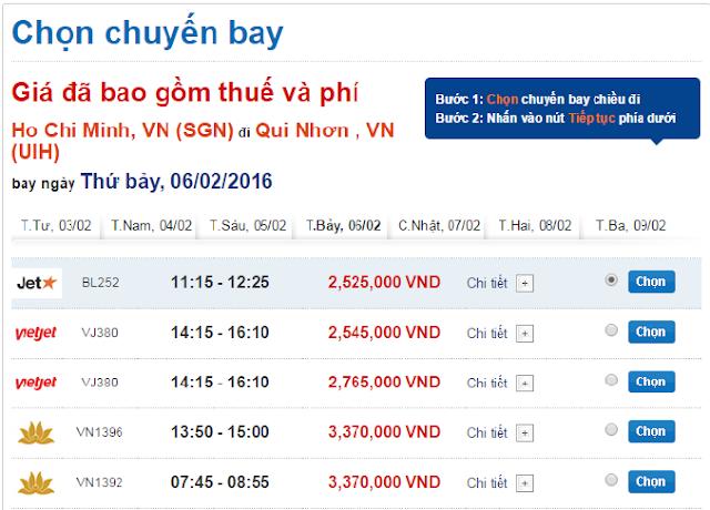Vé máy bay Tết 2016 đi Quy Nhơn giá rẻ
