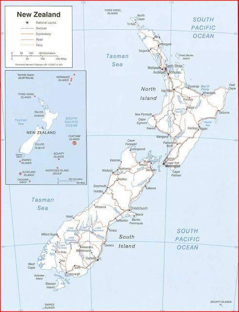 Gambar Peta politik Selandia Baru 2006