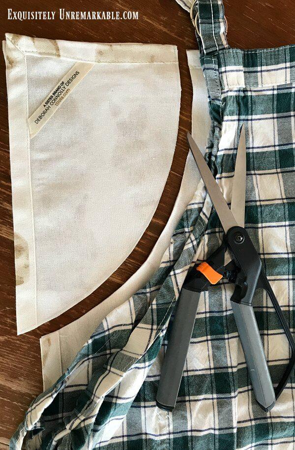 Cutting Away Towel To make Apron