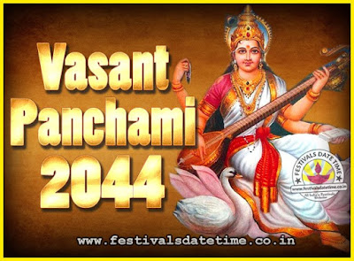 2044 Vasant Panchami Puja Date & Time, 2044 Vasant Panchami Calendar