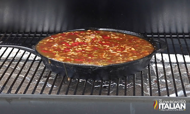 smoked baked beans recipe in the smoker