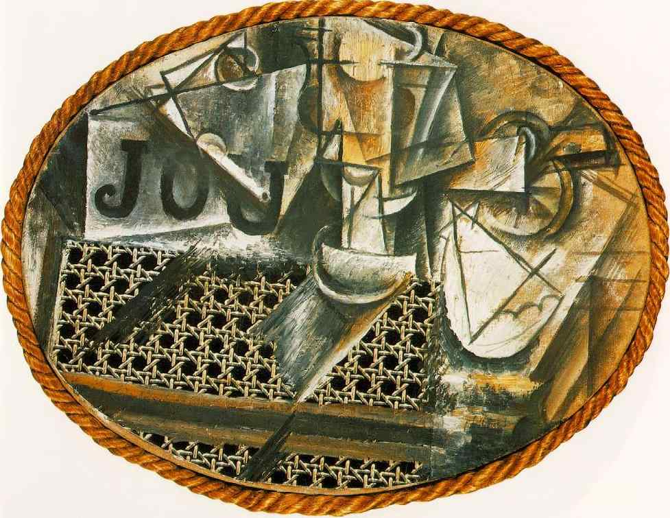 Picasso placed industrially-produced objects into the realm of fine art. Moreover they questioned the elitism of the art world which had always dictated ... & Pablo Picasso. Still Life with Chair Caning 1912. Cubism | Marinau0027s ...