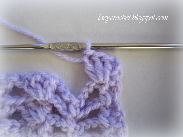 Lacy Crochet Lacy Baby Blanket Tutorial Step 5 How To Crochet A Baby Blanket Step By Step