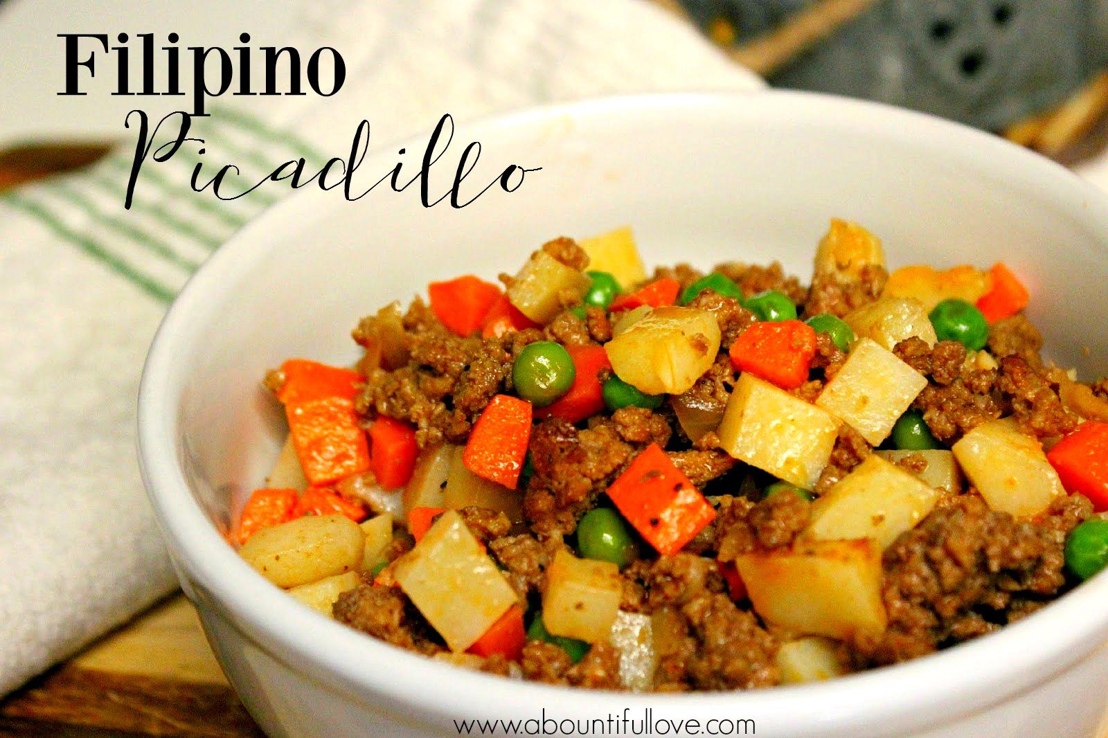Filipino Picadillo - A Bountiful Love