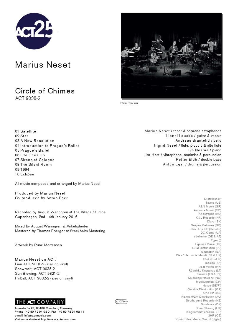 Marius Neset - Circle of Chimes