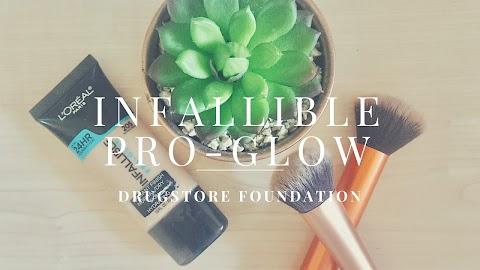 Infallible pro-glow: Drugstore foundation