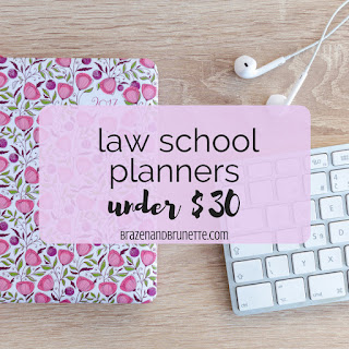 Comparing and contrasting The Happy Planner, Day Designer Planner, and Passion Planner as law school planners | brazenandbrunette.com