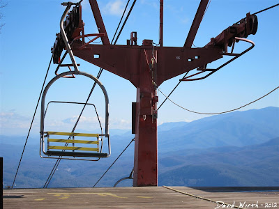 chair lift up to mt harrison, ober, gatlinburg, tennessee