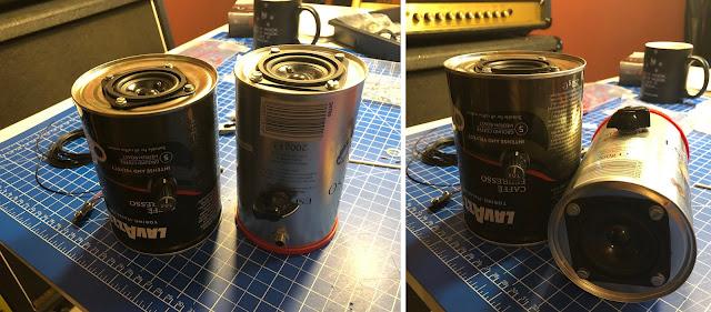 Ich habe bislnag zwei Dosenverstärker gebaut, diese sind durch Wahl der Dose und der Ptiknöpfe leicht individualisierbar.