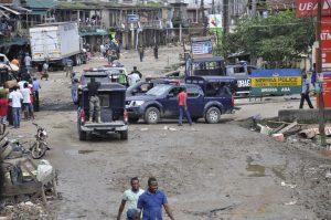 BREAKING: Aba on fire. Police station razed, market shut